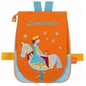 Zainetto personalizzato Principe con cavallo di legno