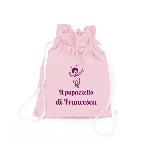 Zainetto pupazzi personalizzato rosa