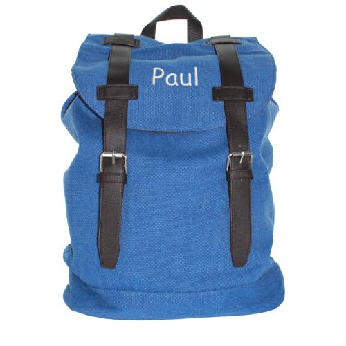 Zaino vintage blu