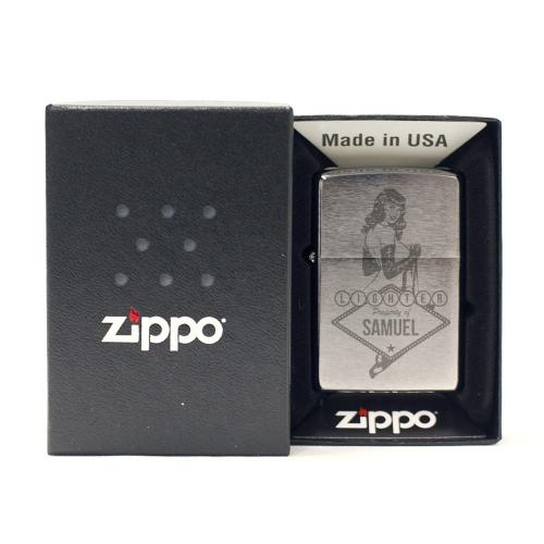 Zippo® chrome testo