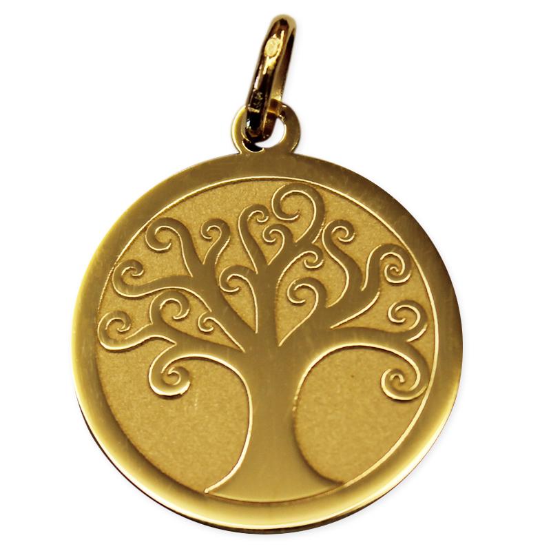 Estremamente Ciondolo albero della vita satinato oro giallo - idee regalo  ZS92