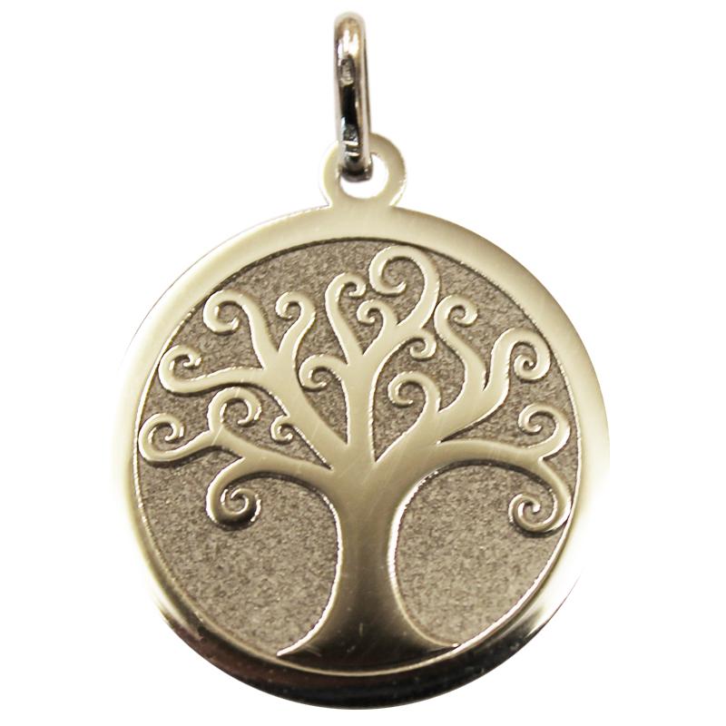 spesso Ciondolo albero della vita levigato satinato in oro grigio - idee  PK27