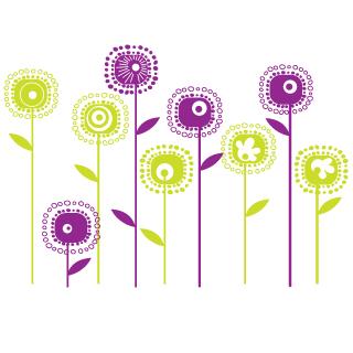 Sticker fiori per bambini idea regalo originale for Fiori stilizzati colorati
