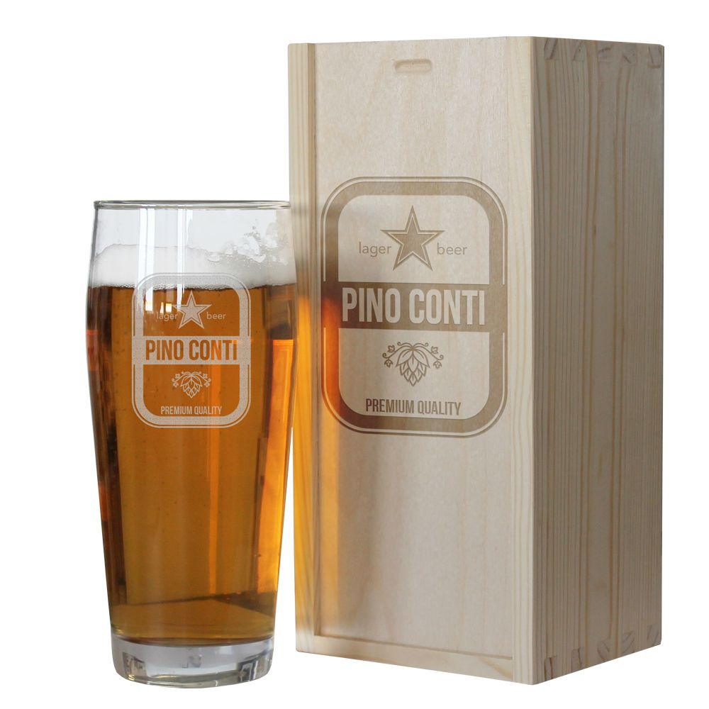 Bicchiere da birra con nome personalizzato idea regalo for Regali per venticinquesimo