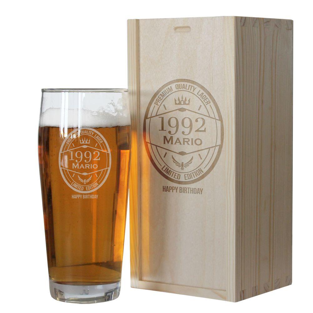 Bicchiere da birra compleanno