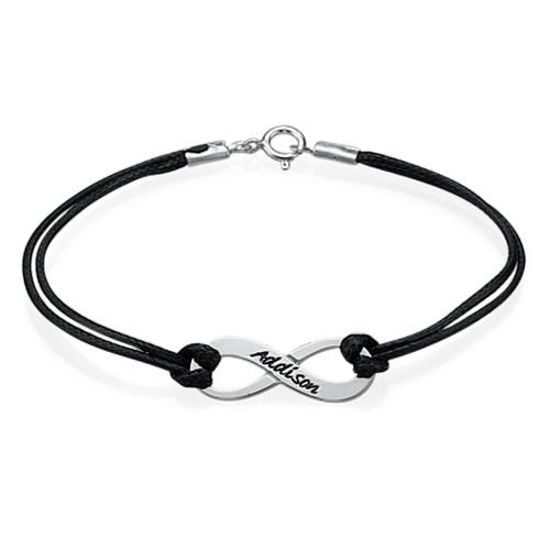 braccialetto infinito personalizzato idea regalo originale angolodelregalo. Black Bedroom Furniture Sets. Home Design Ideas
