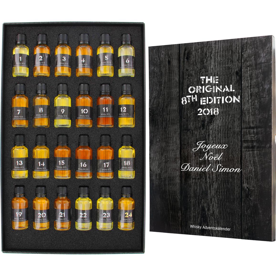 Idee Calendario Avvento Uomo.Calendario Dell Avvento Whisky Personalizzato