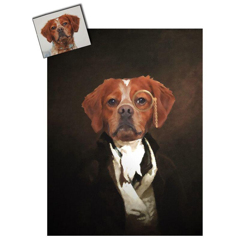 Ritratto cane opera d'arte personalizzato