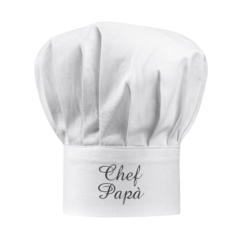 Cappello da chef bianco personalizzato - idea regalo originale ... 58e74a257c13