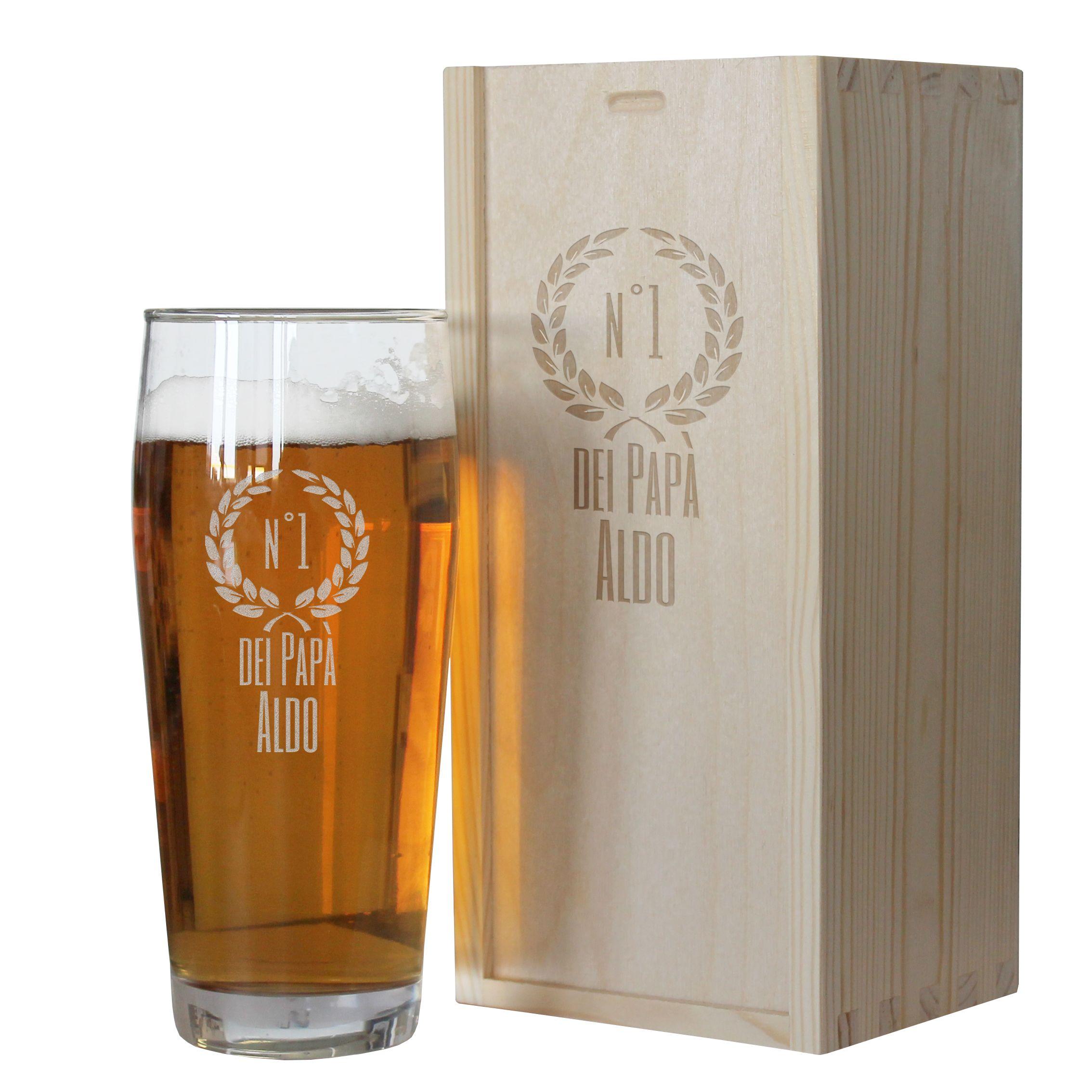20a27aae81 Bicchiere da birra papà Zoom. Bicchiere da birra di Papà personalizzato
