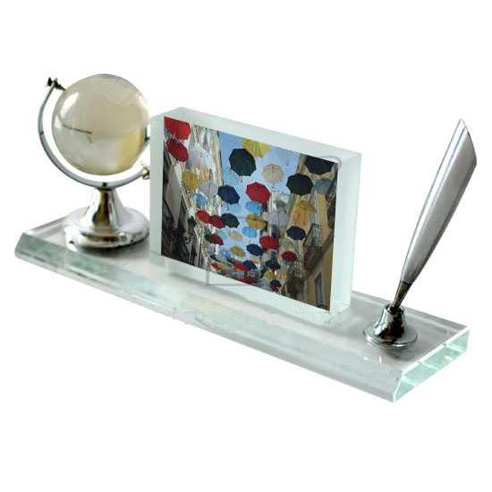 cristallo da scrivania con foto idea regalo originale