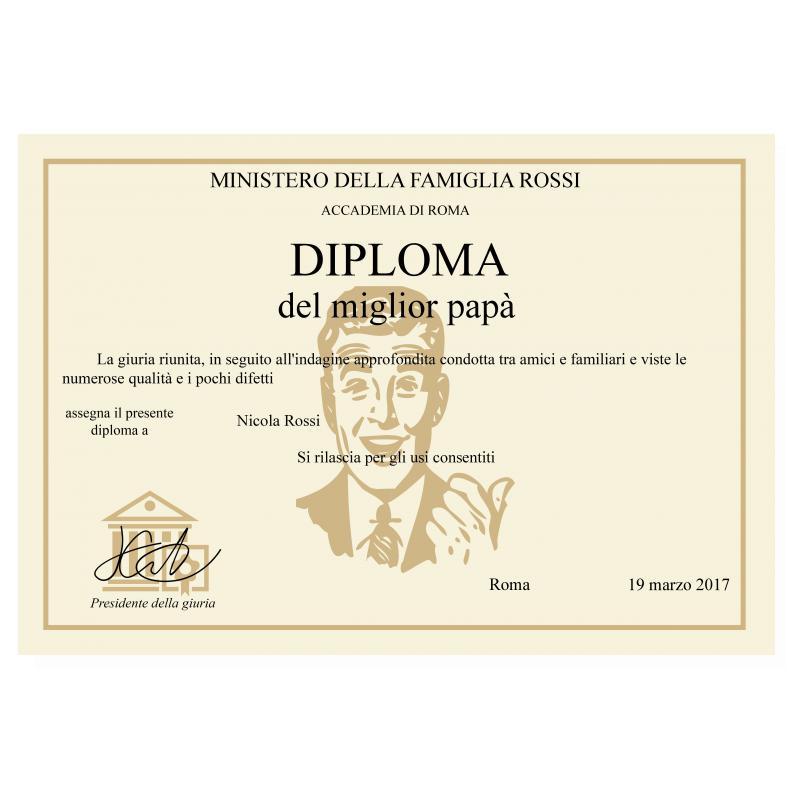 Diploma Del Migliore Pap Nonno Idea Regalo Originale