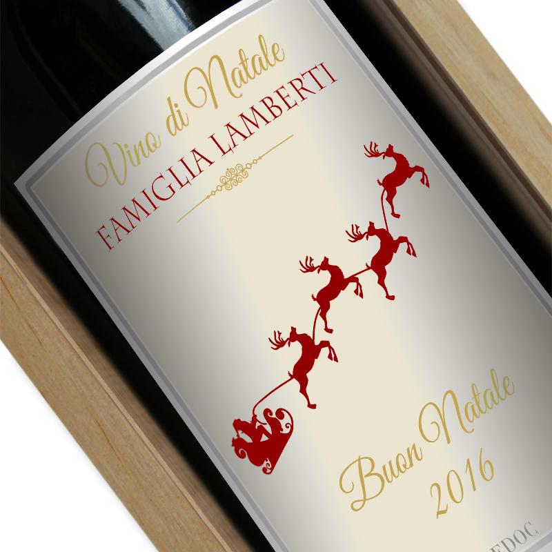 Bottiglia Di Vino Personalizzata Natale Idee Regalo