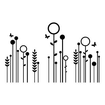 Sticker fiori stilizzati idea regalo originale for Fiori stilizzati immagini