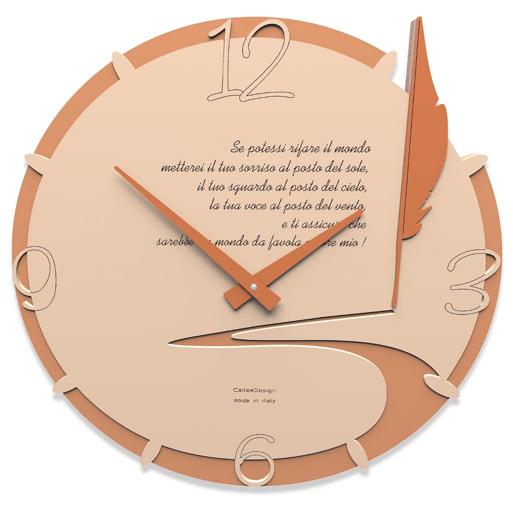 Orologio da parete tondo personalizzabile idea regalo - Orologio design parete ...