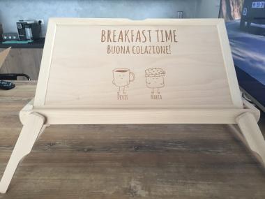 Tavoli Per Colazione A Letto : Vassoio colazione a letto personalizzabile idea regalo originale
