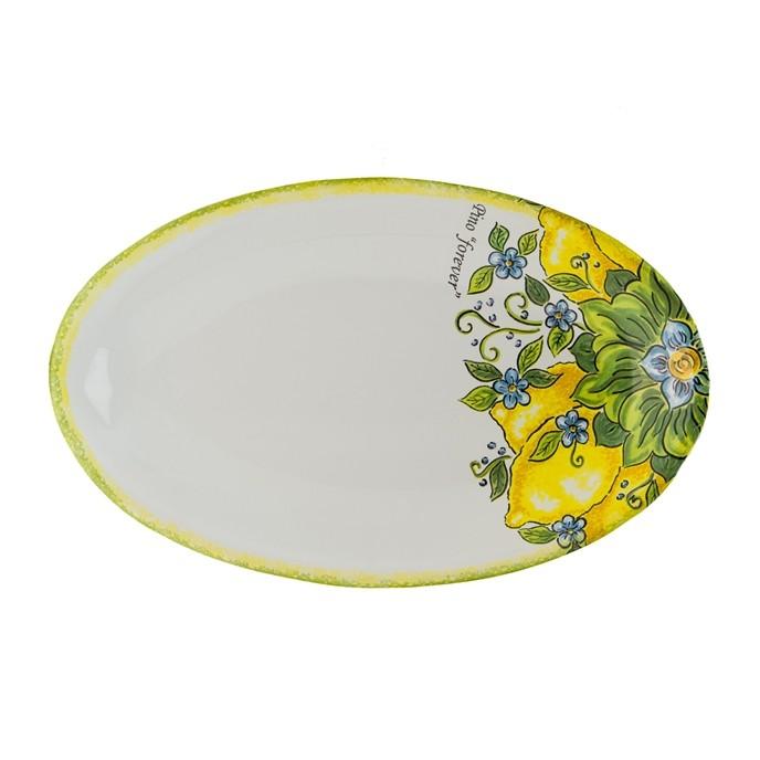 Piatto da portata ovale grande in ceramica personalizzata - Piatto da portata ...