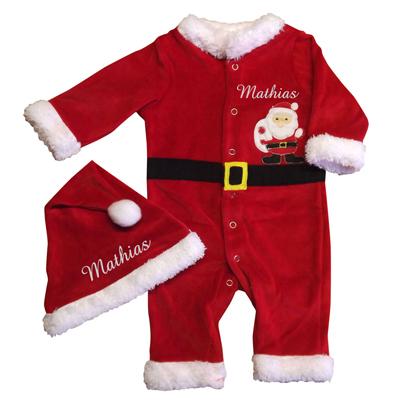 39beb8626a Babbo Natale Neonato.Pigiama Da Babbo Natale Neonato Idea Regalo Originale