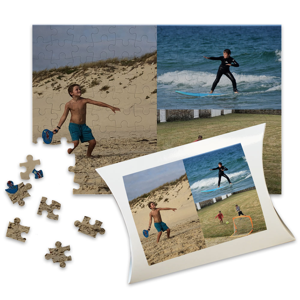 Grande puzzle collage foto