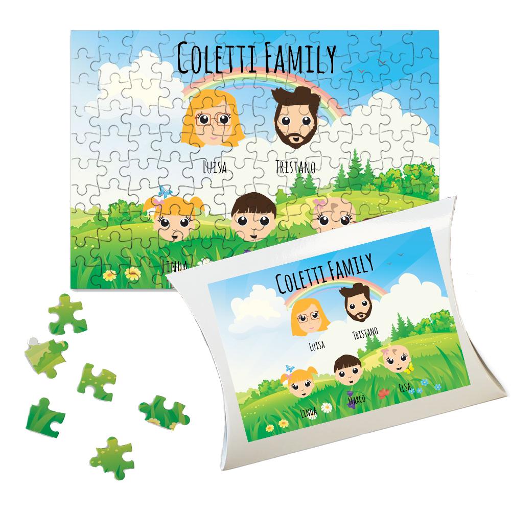 Puzzle personalizzato We Are Family