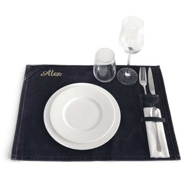 Tovaglietta americana in jeans idee regalo originale for Set de table brode