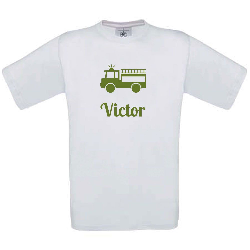 anche cuciti trattore rosso T-shirt