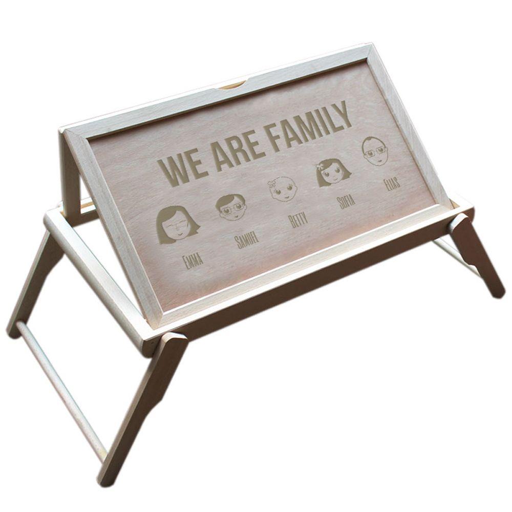 Tavolino Colazione A Letto.Vassoio Personalizzabile We Are Family